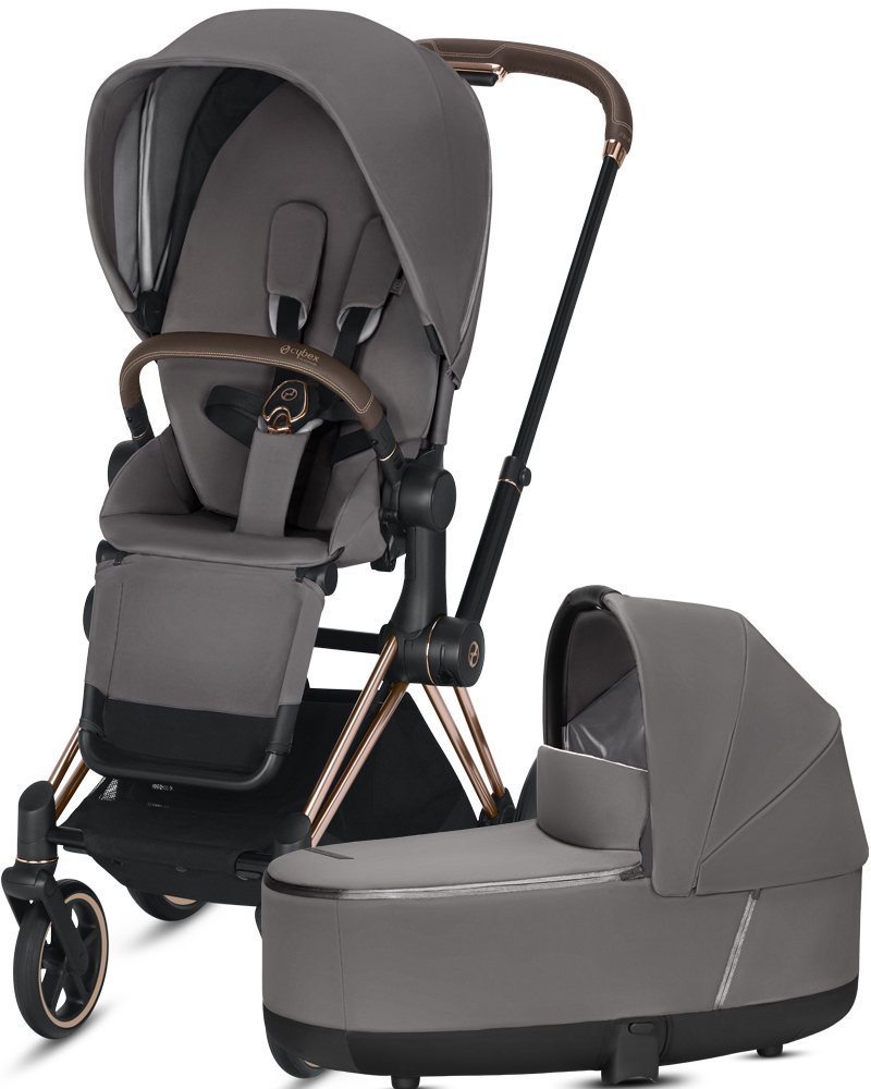 Cybex Priam III | 2-в-1 (Manhattan Grey на шасси III Rosegold)