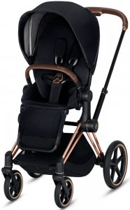 Cybex Priam III (Premium Black на шасси III Rosegold)