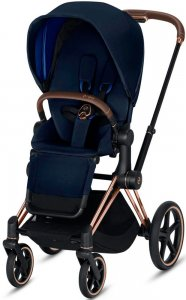 Cybex Priam III (Indigo Blue на шасси III Rosegold)