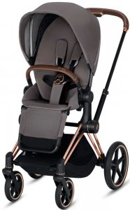 Cybex Priam III (Manhattan Grey на шасси III Rosegold)