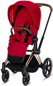 Cybex Priam III (True Red на шасси III Rosegold)