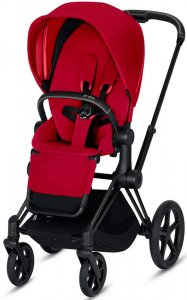 Cybex Priam III (True Red на шасси III Matt black)
