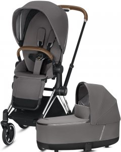 Cybex Priam III | 2-в-1 (Manhattan Grey на шасси III Chrome)