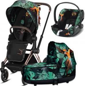Cybex Priam III Birds of Paradise с автокреслом Cloud Z | 3-в-1