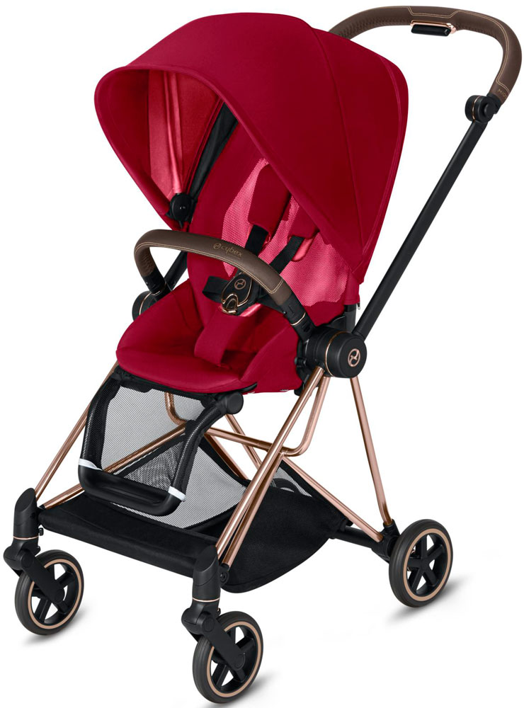 Cybex Mios (True Red на шасси Rosegold)