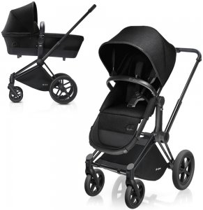 Cybex Priam Light | 2-в-1 (Happy Black на шасси All Terrain Matt Black)