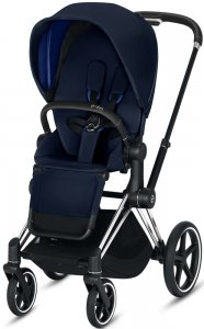 Cybex Priam III (Indigo Blue на шасси III Chrome Black)