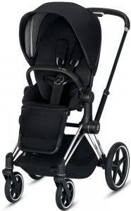 Cybex Priam III (Premium Black на шасси III Chrome Black)