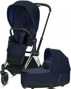 Cybex Priam III | 2-в-1 (Indigo Blue на шасси III Chrome Black)