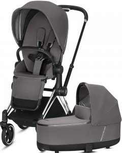 Cybex Priam III | 2-в-1 (Manhattan Grey на шасси III Chrome Black)