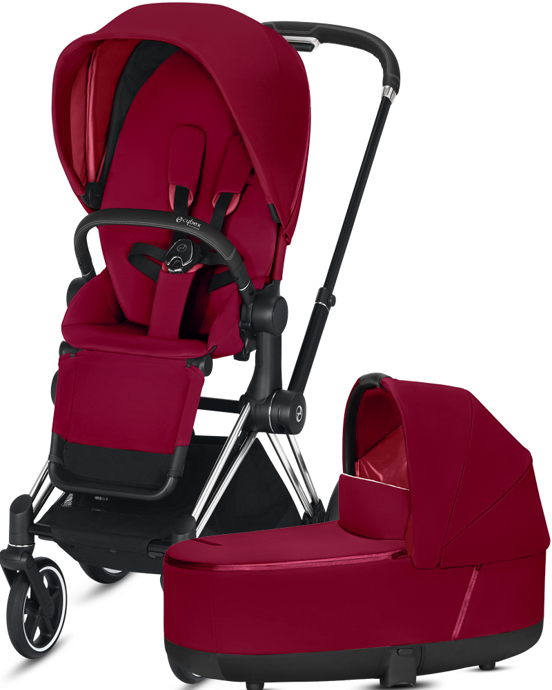 Cybex Priam III | 2-в-1 (True Red на шасси III Chrome Black)