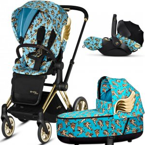 Cybex Priam III Jeremy Scott Cherubs с автокреслом Cloud Q | 3-в-1