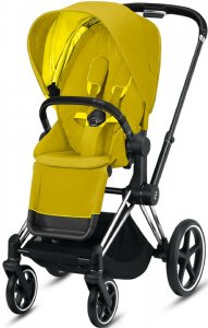 Cybex Priam III (Mustard Yellow на шасси III Chrome Black)
