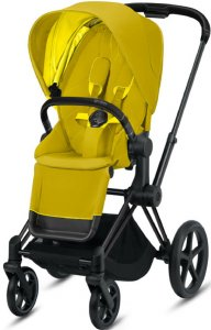 Cybex Priam III (Mustard Yellow на шасси III Matt black)
