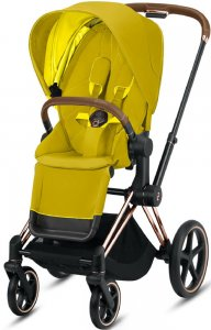 Cybex Priam III (Mustard Yellow на шасси III Rosegold)