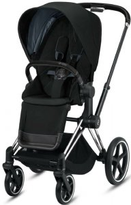 Cybex Priam III (Deep Black на шасси III Chrome Black)