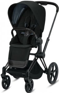 Cybex Priam III (Deep Black на шасси III Matt black)