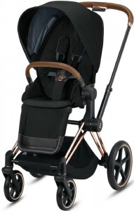 Cybex Priam III (Deep Black на шасси III Rosegold)