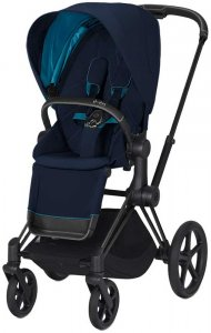Cybex Priam III (Nautical Blue на шасси III Matt Black)