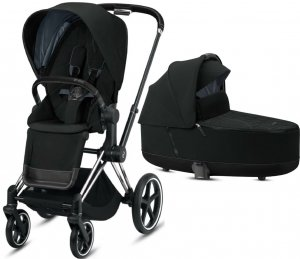 Cybex Priam III | 2-в-1 (Deep Black на шасси III Chrome Black)