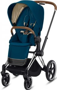 Cybex Priam III (Mountain Blue на шасси III Chrome)