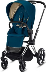 Cybex Priam III (Mountain Blue на шасси III Chrome Black)