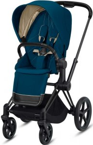 Cybex Priam III (Mountain Blue на шасси III Matt black)