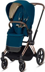 Cybex Priam III (Mountain Blue на шасси III Rosegold)